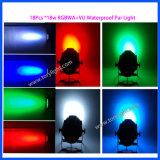 Indicatore luminoso esterno di PARITÀ 18PCS*18W di illuminazione IP65 della discoteca della fase del LED