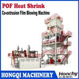 Shrink di calore di POF tre strati della macchina della pellicola saltata coestrusione