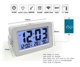 Digital Big Digits Relógio de mesa de alarme inteligente para Elder com carregador USB