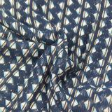 De blauwe Sjaal van de Druk van de Keperstof voor Vrouwen vormt Bijkomende Sjaals