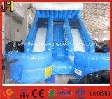 販売のために商業PVC防水シートの倍の車線の膨脹可能なスライドまたは膨脹可能