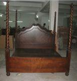 American Oak Wooden Hotel Meubles de chambre à coucher / King Panel Bed