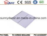 木カラーPVC壁パネル、内部の装飾的なPVCタイル、中国の製造業者PVC天井