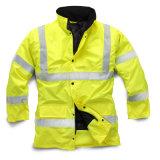 Chaqueta polar de Hoody de la camisa de sudor del paño grueso y suave de la seguridad de los hombres