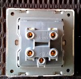 Переключатель стены 25A английского стандарта золотистый сделанный по образцу