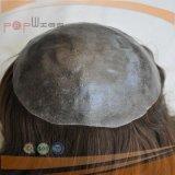 Injecção de cabelo Virgem Europeu Peruca Toupee Homens (PPG-L-0933)