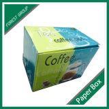 يطبع طية علبيّة يعبر صندوق من الورق المقوّى لأنّ قهوة إناء