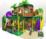 Ânimo Cofre de diversões temático na selva playground coberto para crianças