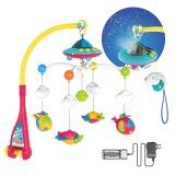 赤ん坊の製品のABS投射及び音楽(H8732056)の物質的な回転ベッドの鐘のおもちゃ