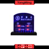 Insignia modificada para requisitos particulares límite electrónico dedicada Ym-LC02 de la apuesta del vector del póker del casino de la muestra del límite del vector de los juegos de vector del bacará LED