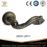 L'aluminium ou du matériel de porte de la poignée en alliage de zinc avec Rose (z6251-ZR11)