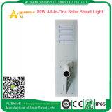 80watts alle-in-Één Zonne LEIDENE Straatlantaarn met De Sensor van de pir- Motie