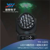 indicatore luminoso capo mobile di focalizzazione del fascio di 19PCS LED