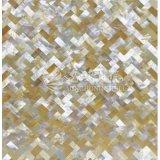 Azulejo de mosaico amarillo del shell 10*20m m de la fregona del labio