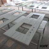 Один Countertop кухни камня кварца части белый
