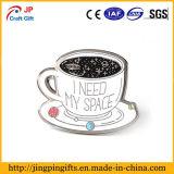 Personalizzare il Pin del risvolto dello smalto di figura della tazza di caffè