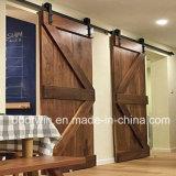미국 오크재 문 안쪽 문을%s 가진 두 배 미끄러지는 집 문