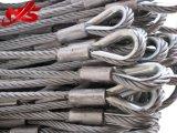 Гальванизированный стальной слинг веревочки провода кабеля для чертежа