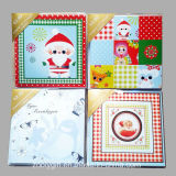 EnvelopのハンドメイドのDecorated Greeting Card/Wholesale Christmas Greeting Card