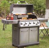 Grill professionnel à gaz professionnel à 5 brûleurs avec ETL