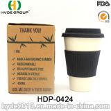 Eco freundliche Bambusfaser-Kaffeetasse mit Silikon-Kappen