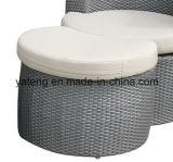 Jogo de café ajustado do sofá ao ar livre para qualquer tempo da mobília do Rattan do PE (YT257)