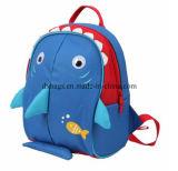 Zaino del banco dei capretti, rivestimento isolato, sacchetto di banco del fumetto dello squalo del blu marino