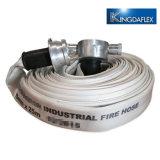 Blanco de alta presión mangueras contra incendios de PVC/Layflat mangueras contra incendios 10 bar