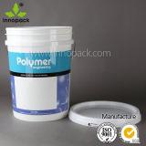 Produto comestível impresso dos PP cubeta plástica do balde de 20 litros com tampa e punho
