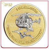 Изготовленный на заказ античной монетка покрынная бронзой чужая воинская