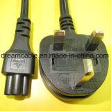 шнура питания Bsi 1.8m стандарт черного Approved UK с IEC 320 C5