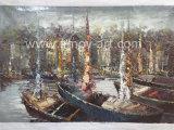 Paletten-Messer-Boots-Ölgemälde auf Segeltuch