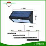 il sensore di movimento 500lm impermeabilizza il riparo solare della parete della lampada del giardino di Lampada di via dei 38 LED del giardino esterno solare dell'indicatore luminoso