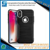 Cassa dura semplice della metallina TPU del tasto del metallo per il iPhone X