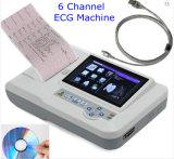 세륨 전문가 7 PC 소프트웨어를 포함하여 인치 접촉 스크린 6 채널 디지털 Electrocardiograph ECG 기계 12 지도 EKG-923s - Maggie
