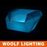 El sofá caliente de 2017 ventas LED enciende para arriba el sofá del club de noche de los muebles del sofá LED