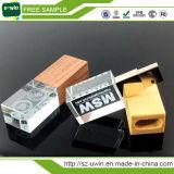 1GB/2GB/4GB/8GB/16GB/32GB/64GB ha personalizzato l'azionamento a cristallo della penna del USB di marchio del laser 3D