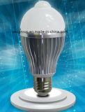 AC85-265V lâmpada LED PIR 5W 7W com Sensor de PIR e base E27