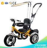 Triciclo plástico barato del bebé de los niños del modelo nuevo para el triciclo de los cabritos de los cabritos/de los niños del bebé del tipo del coche y de la potencia del paseo o del empuje