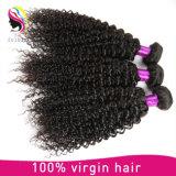 Kinky Encaracolado Virgem Cabelo humano extensões de cabelo mongol