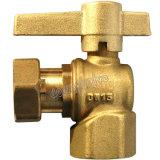 Medidor de agua de la válvula de bola de latón con magnético Lockbale