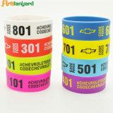 Wristbands di gomma personalizzati del silicone di modo