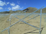 Galvanizados a quente ajustável Terra Solar Sistema de Fixação