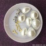 La moda de plástico perlas Perla ovalada con accesorios metálicos para joyerías