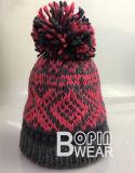 Mulheres Design OEM Lado Tricô Inverno POM POM Hat Beanie chapéu de Inverno