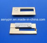 Etiqueta conocida magnética de cobre amarillo modificada para requisitos particulares de la placa conocida de la divisa conocida