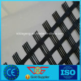 En polyester tissé enduit de PVC géogrille 80-30kn
