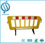 Барьер красных/желтого цвета временно портативный пластичный для безопасности дороги