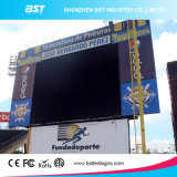 IP65 Waterproof P10 Perimeter LED Screen con SMD3535 Wide View Angle 140 Degree