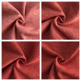 Tingidos natural do cânhamo Tecidos de algodão orgânico na cor vermelha (ND-0346-0008)
